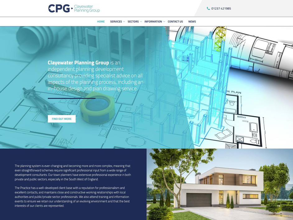 The CPG website created by it'seeze North Devon