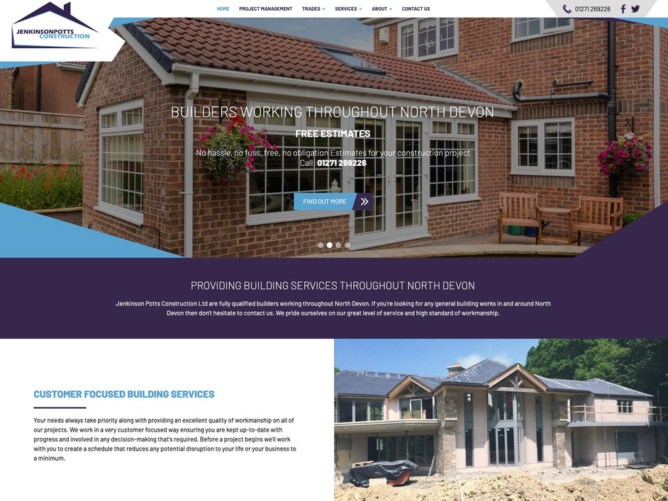 The Jenkinson Potts website created by it'seeze North Devon