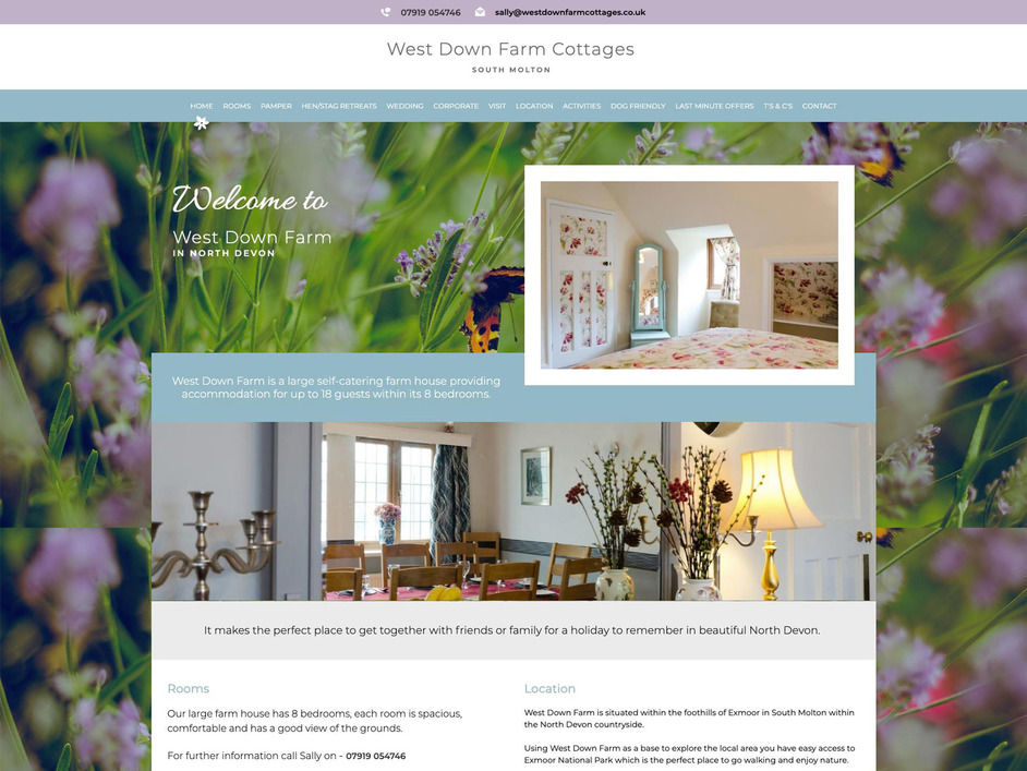 The West Down Farm website created by it'seeze North Devon