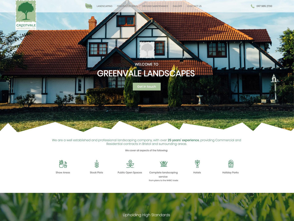 The Greenvale website created by it'seeze North Devon